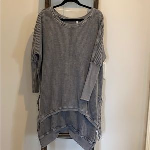 Free People size L charcoal oversized tunic s